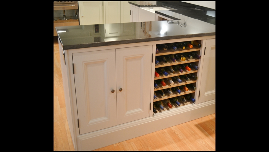 Edwardian Base Unit and Wine Rack